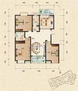富杰・水岸家园3室2厅2卫137平方米户型图