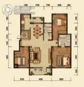中鸿基名都3室2厅2卫130平方米户型图