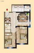 明发锦绣华城2室2厅1卫75平方米户型图