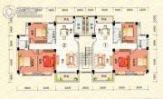 江南名居3室2厅2卫0平方米户型图