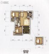 �上II熟地当归2室2厅1卫77平方米户型图