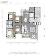 龙湖景粼玖序4室2厅2卫132平方米户型图