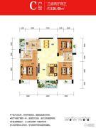 时代名城3室2厅2卫120平方米户型图