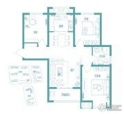 绿都紫荆华庭3室2厅1卫101平方米户型图