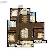 万科海上传奇3室2厅1卫117平方米户型图