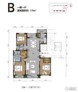 曦园3室2厅2卫170平方米户型图