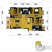 奥山世纪城3室2厅2卫121平方米户型图