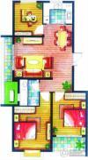 上书房3室2厅1卫96平方米户型图