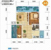 双发广场2室2厅1卫82平方米户型图