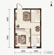 益和国际城1室1厅1卫41平方米户型图