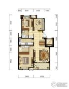 光明・褐石公元3室2厅2卫93平方米户型图
