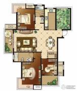 冠城大通蓝湾3室2厅2卫140平方米户型图