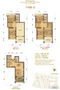 大港御景新城2室2厅2卫99平方米户型图