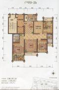 大港御景新城3室2厅2卫126平方米户型图