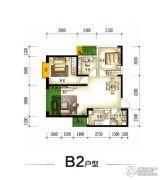 园城3室2厅1卫94平方米户型图