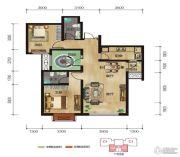中拓世纪天骄2室2厅2卫100平方米户型图
