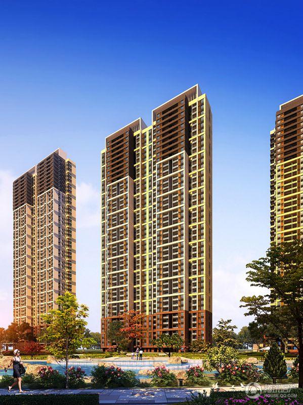 中国水电盛世江城住宅单体透视