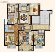 京都悦府4室2厅2卫123平方米户型图