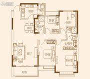 济南恒大龙奥御苑4室2厅2卫152--157平方米户型图