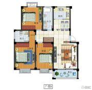 富源尚城3室2厅2卫120平方米户型图