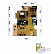 奥山世纪城2室2厅1卫79平方米户型图