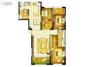 东方希望天祥广场天荟3室2厅2卫149平方米户型图