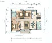 顺德华侨城・天鹅湖3室2厅2卫120平方米户型图