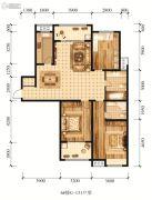 江山花园3室2厅3卫131平方米户型图
