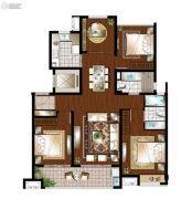 万科遇见山3室2厅2卫122平方米户型图
