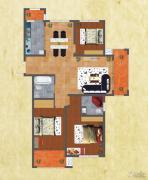 友谊嘉御龙庭3室2厅2卫139平方米户型图