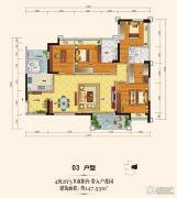上城铂雍汇4室2厅3卫147平方米户型图
