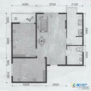 滨海新城2室2厅1卫74平方米户型图