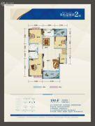 鸿都・英伦星海湾3室2厅2卫125平方米户型图