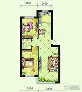 恩德花园2室2厅1卫93平方米户型图