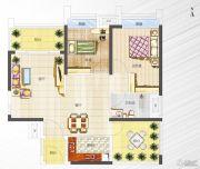 港宏世家3室2厅0卫88平方米户型图