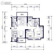 时代倾城3室2厅2卫0平方米户型图