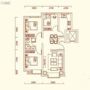 特变水木融城3室2厅1卫89平方米户型图