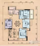 金奥园3室2厅1卫85平方米户型图