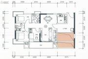 正太广场3室2厅2卫99平方米户型图