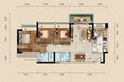 正德天水湖3室2厅2卫90平方米户型图
