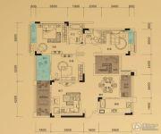 鲁能领秀城3室2厅2卫100平方米户型图