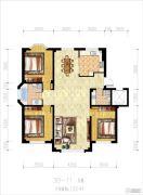 辽阳泛美华庭3室2厅2卫133平方米户型图