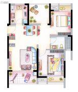 南山维拉3室2厅1卫95平方米户型图