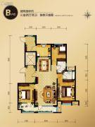 外滩・龙庭帝景3室2厅2卫0平方米户型图