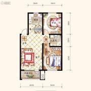 保利・白沙林语2室2厅1卫88平方米户型图