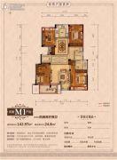 丽江半岛4室2厅2卫142平方米户型图